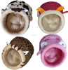 Wholesale plush animal shaped pet bed/pet products