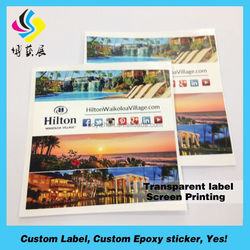 Best Price Custom Self Adhesive Clear Label Printing, Waterproof Clear Vinyl Label