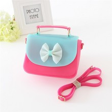 made in china cheap price lovely girl tote bag,shouder bag red party kids candy jelly bag