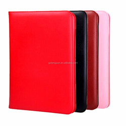 Newest and simple design PU leather flip cover case for ipad mini 2/3