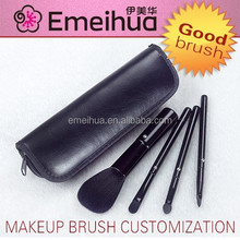 black 4pcs crystal free samples cosmetic brush new products 2015 innovative products