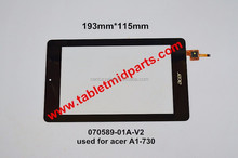 Tablet MID Replacement 7.0 inch touch screen 070589-01A-V2 used for acer A1-730