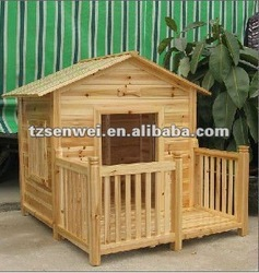 wooden dog house, pet house, cage with balcony