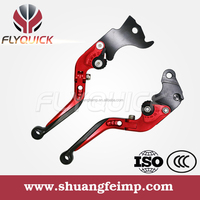 Red/Gold/Blue Scooter accessories flexible & adjustable CNC aluminum motorcycle brake clutch levels for BWS