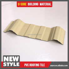 pvc plastic roof tile anti-corrosive composite roofing tile for canopy material