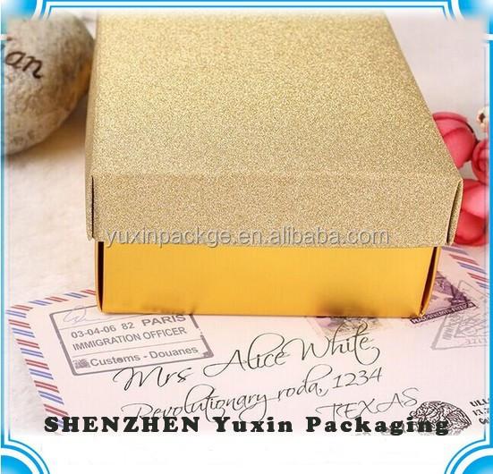 Oro proveedor personalizado cajas de chocolate / logotipo personalizado de chocolate caja de embalaje / caja