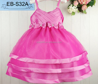 New Baby Dress Summer Sleeveless Organza Children Party Dress Formal Girl Prom Dress