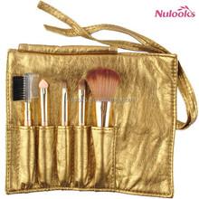 5pcs golden pu roller makeup brush free samples