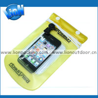 fashion waterproof smartphone bag with drawstring for water activities
