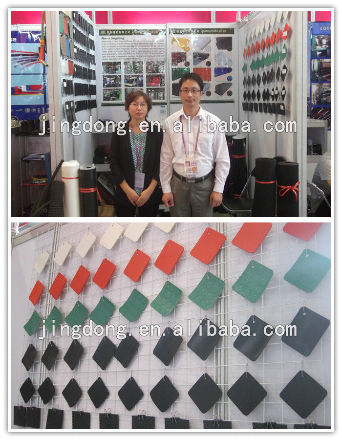 Grooved Rubber Mat (stable mat)/anti-slip rubber sheet