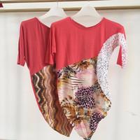 2015 women fashion design short sleeve beaded applique satin blouse
