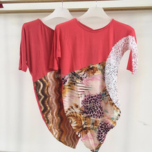 2015 women fashion design short sleeve beaded applique satin blouse