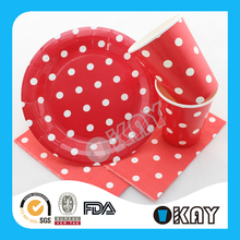 2015 Party Supplies Fashion Color Paper Cake Plates For Birthday Day