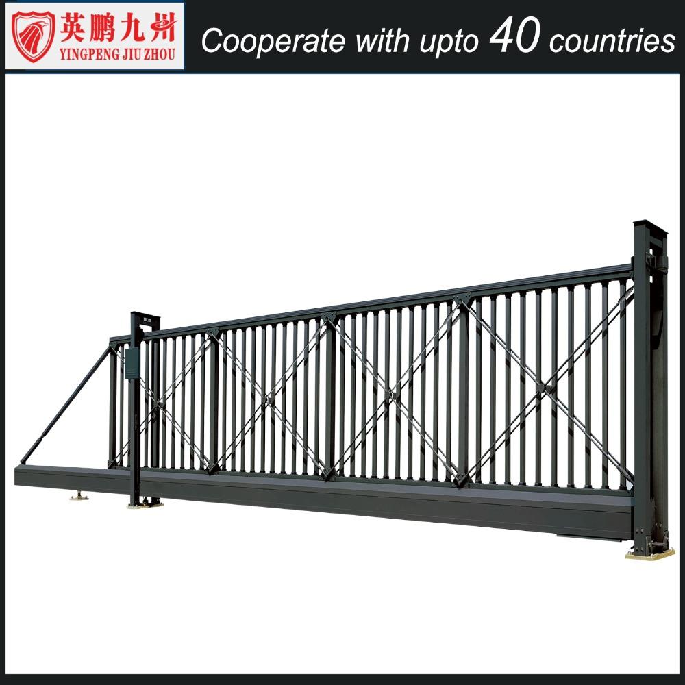 Aluminum automatic security sliding gate