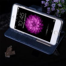 Paypal accept fashion pu leather Flip case for iphone 6 plus