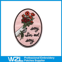 Fashion design embroidery patches for blouses in cheap price
