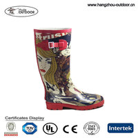 Sex Ladies'Insulated Fashionable Rain Boots For Women Manufacturer