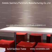 buena calidad de la superficie sólida mesa de kfc procedentes de china