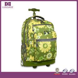 2015 new design trolley backpack, hot sale trolley school backpack, high quality cheap trolley backpack