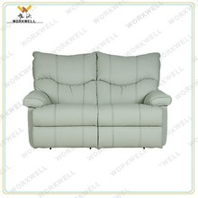 WorkWell high quality luxury leather recliner sofa set Kw-Fu63