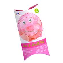 Sewing felt crafts for kids to make---pig