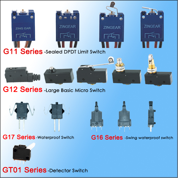 DPDT Limit micro switch series