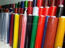 Colored transparent PVC film