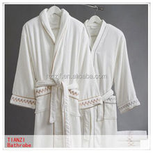 soft cap embroidered coral fleece baby infant bathrobe