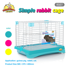 Fashion design high quality stainless steel rabbit cages/metal pet cages with large space for hotsale