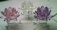 Exquisite crystal lotus,crystal glass lotus decoration