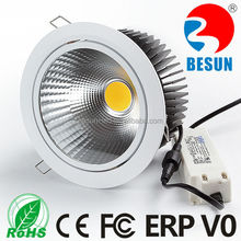 2015 BESUN dimmable cob led downlight 40w led downlight IP33/IP44 optional