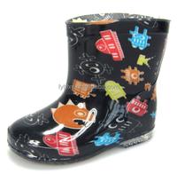 cute boys robot print cheap kids plastic rain boots