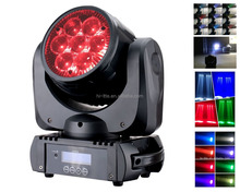 zoom mini led moving head lighting 7pcs*10w rgbw mac aura stage lighting