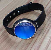 Custom fashion waterproof IP67 LED bluetooth smart bracelet, blue sapphire smart watch for man and women