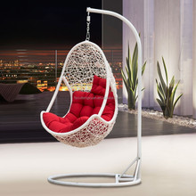 Outdoor cheap hanging chair with stand