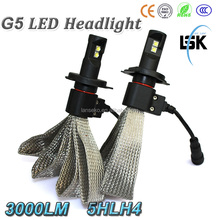 NEW !!! High brightness G5 led headlight 6000lm 20W car led CREEs headlight with two years warranty