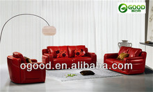 2013 Top Quality Red Leather Sofa Design