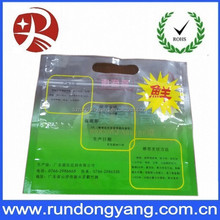 High quality zip lock plastic bag with handle for fresh chicken food