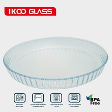 Heat Resistant Glassware/ Round Glass Bake Tray