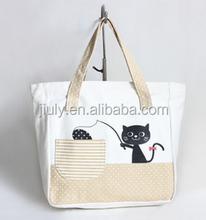 fashion handle handbag for women custom canvas handbags