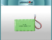 7.2v aaa 500mah ni-mh battery pack rechargeable battery high quality
