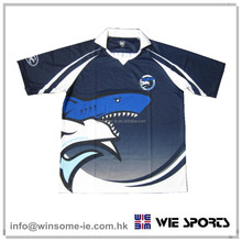 Promotional Customized Unisex Polyester Moisture Wicking Yarn Sublimation shirt for Team