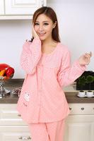 костюм грудного вскармливания пижамы Весна и осень-зима мода беременных женщин одежда материнства