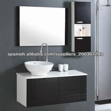Modernos gabinetes de ba o de pvc vanidad b 049 for Gabinetes para banos modernos