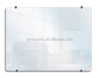 CE Certificate Non-glare Tempered Glass Durable Transparent Writing Metting Room Classroom Wall White Board