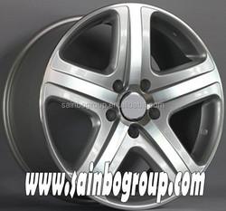 Replica Silver Car Alloy Wheel Rims With 5 Spokes F1021