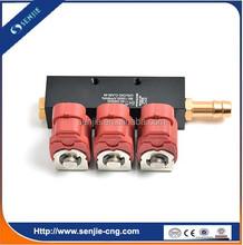Sistema motor 3 cyl cng inyector del carril para kit de conversión