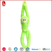 2015 cute colorful plush hanging monkey for kids
