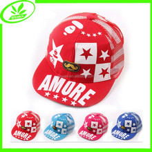 Children good quality mesh cap summer printing snapback hat