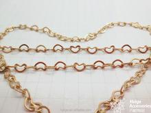 Yiwu Wholesale New Style Valentine's Day Love Shape Raw Brass Chain
